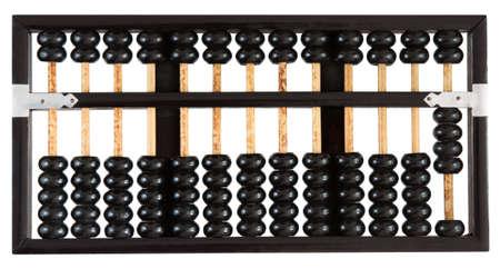 Abacus montrant quatre isol� sur fond blanc. Un d'un ensemble.