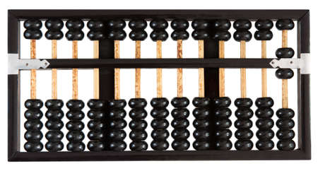 Abacus showing six isolated on white background. One of a set. Stock Photo