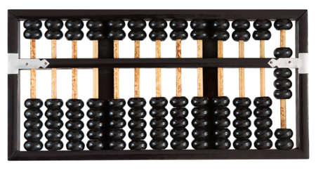Abacus showing eight isolated on white background. One of a set.