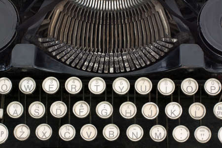 Close-up of Portable Typewriter showing keys and type