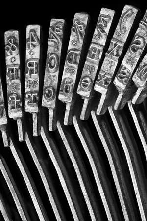 Close-up de la machine � �crire typebars