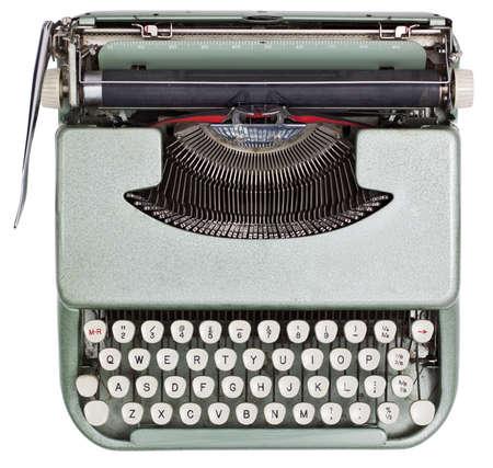 Typewriter from above isolated on white background  photo