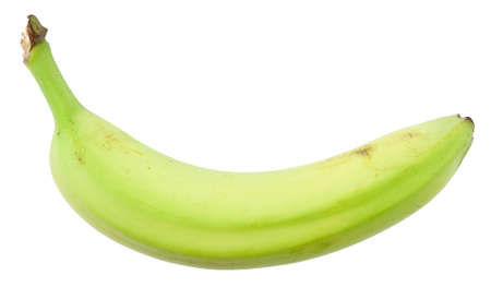 Green banana isolated on white