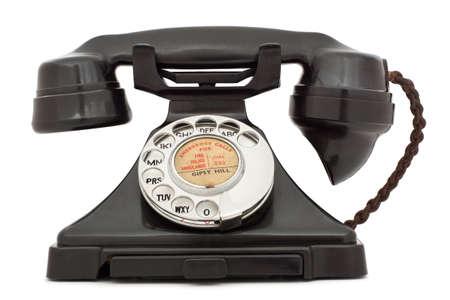 Old bakelite telephone. photo