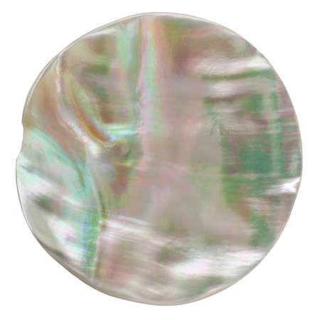 Odd bouton en forme de Iridescent isol� sur fond blanc avec chemin de d�tourage