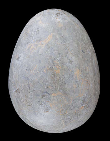 Stone Egg isolated on black with clipping path