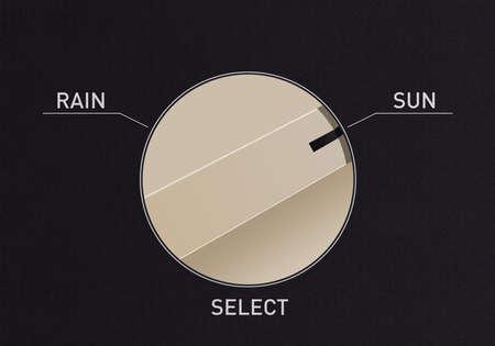Composez le commutateur pour changer de la pluie au soleil Banque d'images