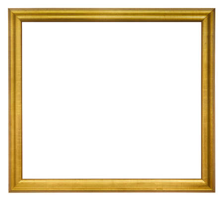 Old picture frame isolated on white  Stock Photo
