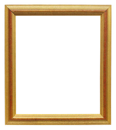 Old picture frame isolated on white