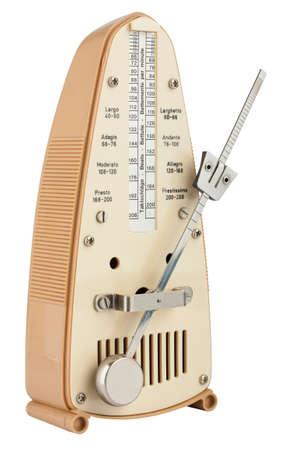 Metronome en mouvement isol� sur blanc Banque d'images
