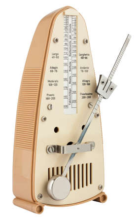 Metronome in motion isolated on white