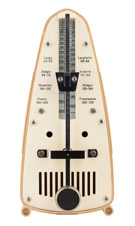allegro: Metronome isolated on white