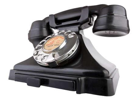 bakelite: Old Bakelite telephone Isolated on white