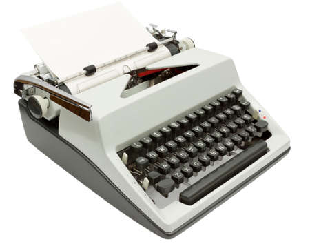 Side view of Typewriter on white with clipping path