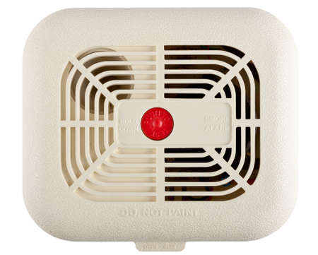 Smoke alarm isolated on white background with clipping path Stock Photo - 28506532