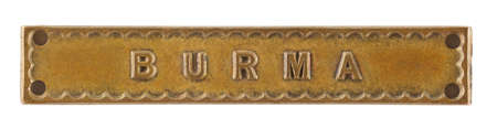 The Burma Bar or Clasp for World War Two medal isolated on white with clipping path Stock Photo - 69048292