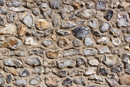 Stone Wall texture showing stones set in concrete Stock Photo