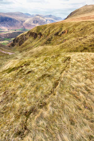 View from Hills in The Lake District in portrait orientation 写真素材