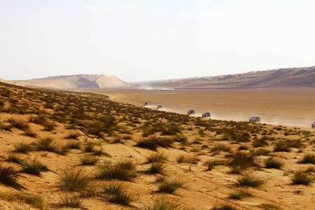 Beautiful dunes in Omani desert photo
