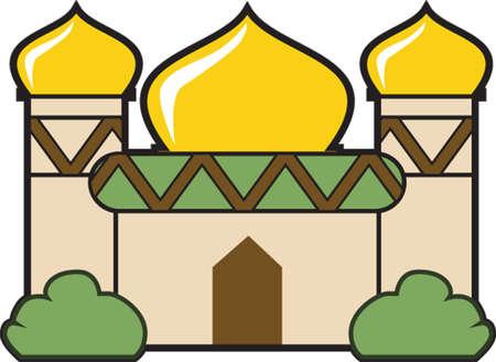 muslim pray: Mosque Illustration