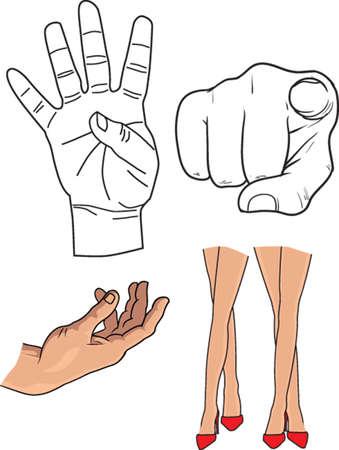 cuerpo parts5 Ilustración de vector