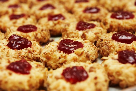 a cookies with jam