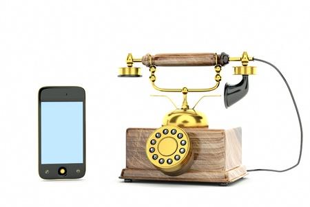 bakelite: a phones evolution, progress concept Stock Photo