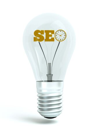 a seo concept, word in bulb Stock Photo - 10516510