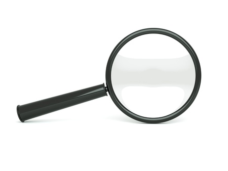 loupe: a single black magnifier isolated on white