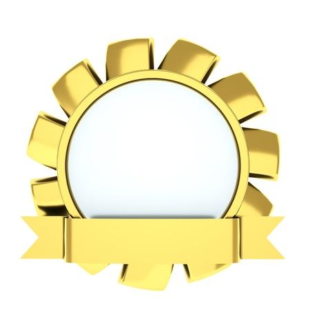 honours: medal in the shape of a flower, award ribbon