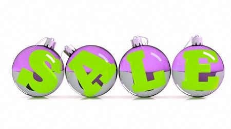 specular: a christmas balls with silver tops, x-mas sale concept, season sale