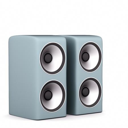 fi: speakers on  white Stock Photo
