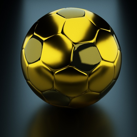 a gold soccer ball  photo