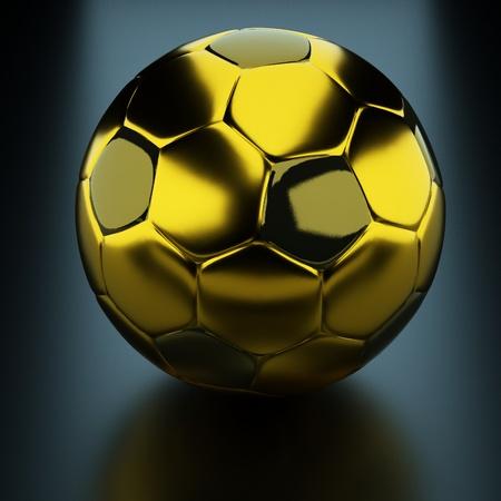 one team: a gold soccer ball