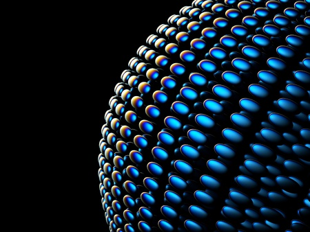 a blue sphere background photo