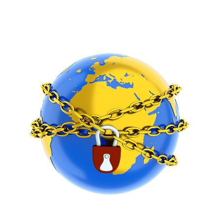 a world protection cocept on white Stock Photo - 10555711