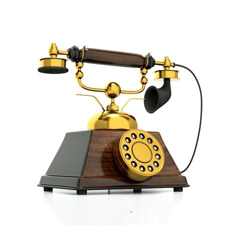 a retro phone on white Stock Photo - 10594730