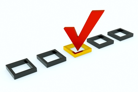 a vote mark, the right choice Stock Photo - 10642336