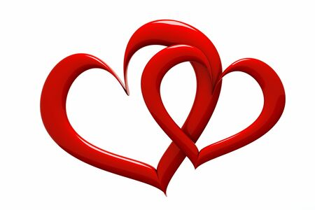 clr: a two red hearts