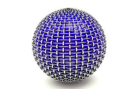 a 3d render of wire sphere Stock Photo - 10768033