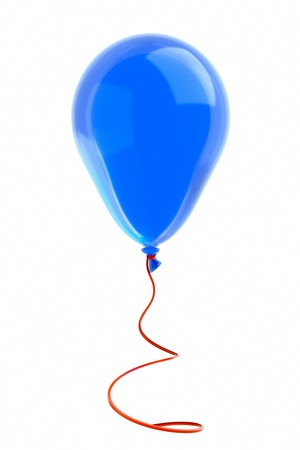 a balloon with ribbon on white Stock Photo - 10768016