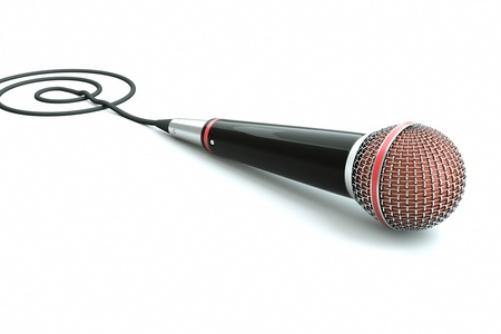 a single microphone on white photo
