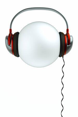 earphones: a sphere with earphones