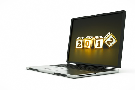 a 2012 year concept with laptop Stock Photo - 10798114