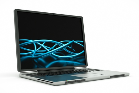 a laptop with abstract background on screen Stock Photo - 10921252
