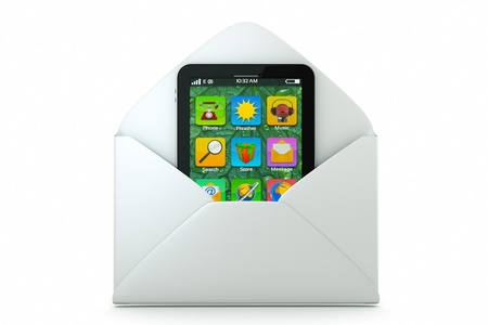 envelop: a new model of cellphone as a mail, getting new model in envelop