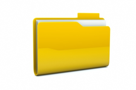 a single folder on white Stock Photo