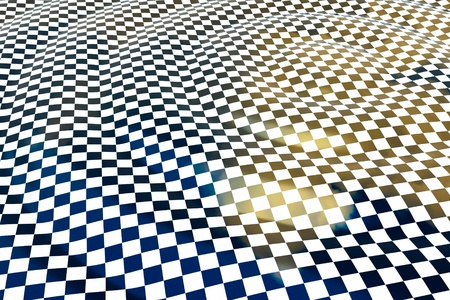 a chessboard wave background Stock Photo - 11004294
