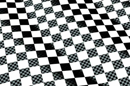 a chessboard wave background Stock Photo - 11004291