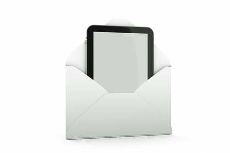 a tablet pc as a mail Stock Photo - 11004355